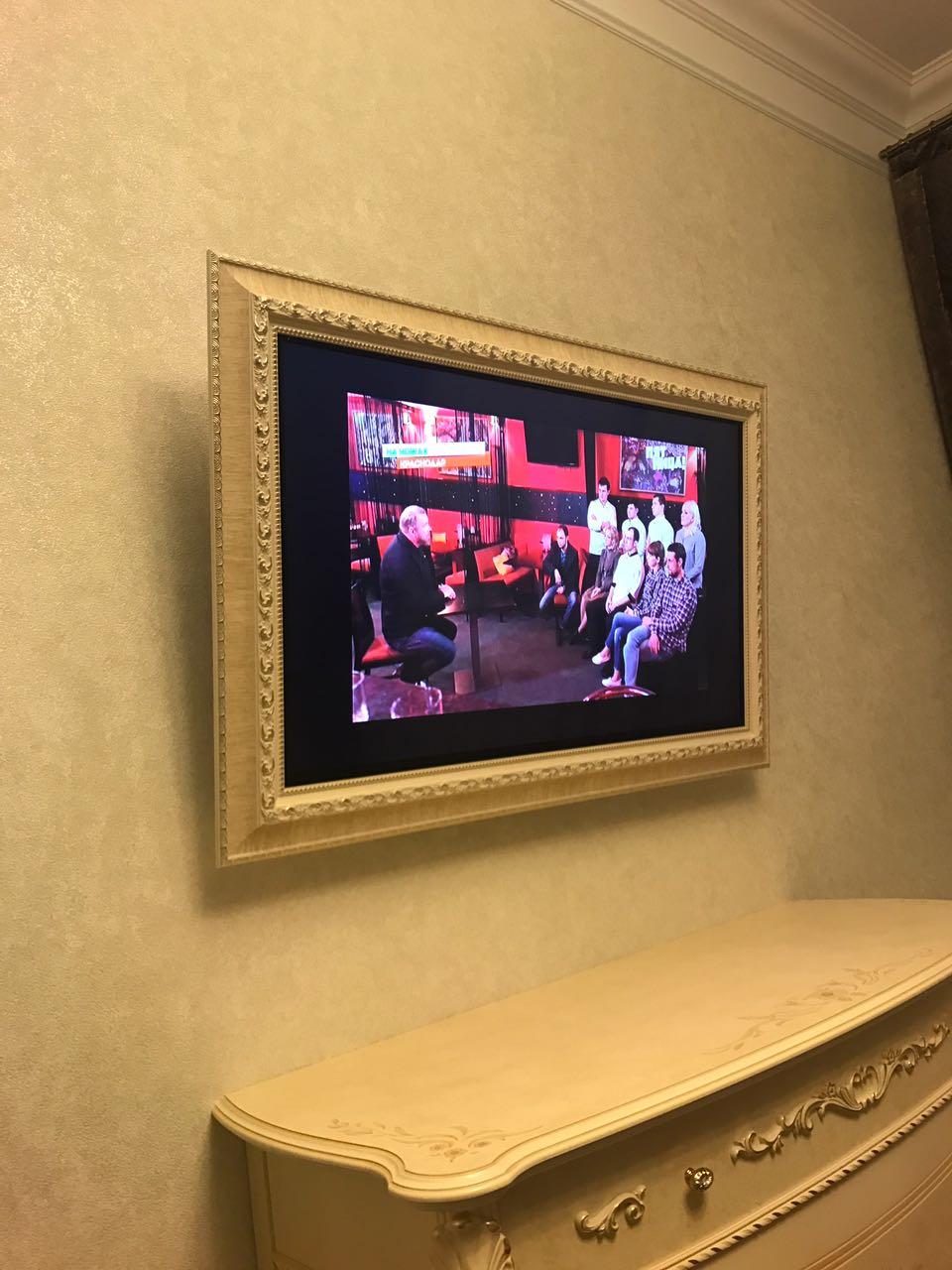 Багет для телевизора своими руками